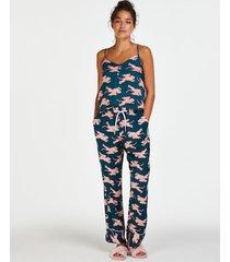 hunkemöller pyjamasunderdel i vävt tyg blå