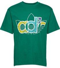 adidas tref tee t-shirts short-sleeved grön adidas originals