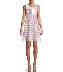 contrast scallop a-line dress