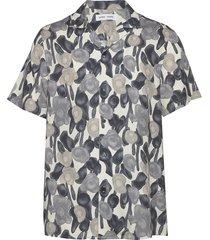 einar sx aop 10527 overhemd met korte mouwen multi/patroon samsøe samsøe
