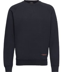 organic cotton felpa crewneck sweat sweat-shirt trui blauw scotch & soda
