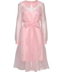 lidi jurk knielengte roze custommade