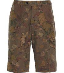 etro jungle shorts