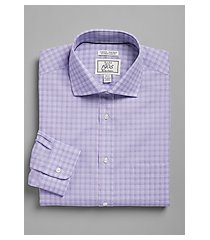 1905 collection extreme slim fit cutaway collar check dress shirt - big & tall clearance, by jos. a. bank