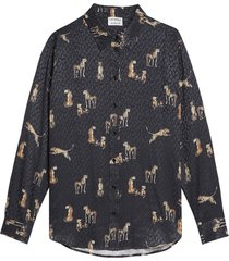 blouse jumping cheetah