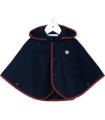 familiar hooded cape - blue