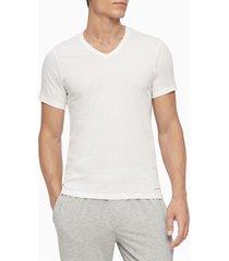 camiseta 3 pack slim fit s/s vneck body blanco calvin klein