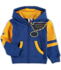 outerstuff youth st. louis blues faceoff full zip hoodie
