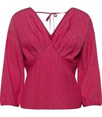 d2. starfall structure blouse blouse lange mouwen roze gant