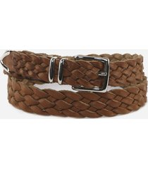 eleventy leather woven belt