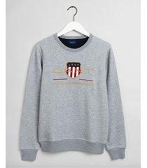 gant sweater archive shield licht crew neck