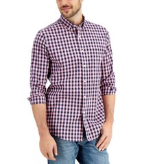 club room men's grant checked shirt, created for macy's
