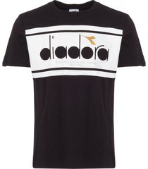 diadora black spectra t-shirt 173796-c7406