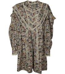 isabel marant paisley motif dress