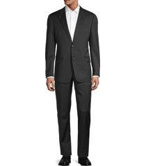 armani collezioni men's virgin wool suit - dark grey - size 48 (38) s