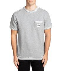 prps men's fleece pocket t-shirt - heather grey - size l