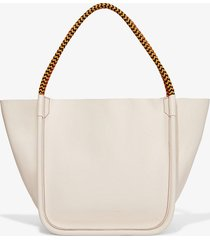 proenza schouler lux rope handle l tote clay/grey one size