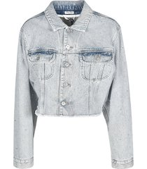 miu miu denim iconic jacket