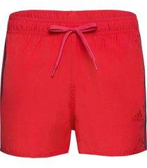 classic 3-stripes swim shorts badshorts röd adidas performance