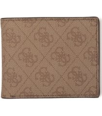 guess men's rfid slimfold wallet with interior coin pocket