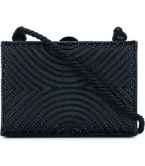 chanel pre-owned 1997-1999 cc logos beads clasp shoulder bag - black