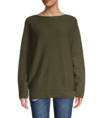 lafayette 148 new york women's bateau-neck cashmere sweater - cloud - size l