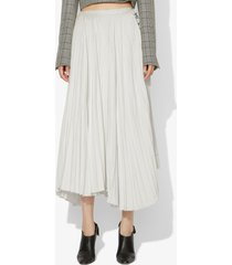 proenza schouler pleated buckle skirt off white 6