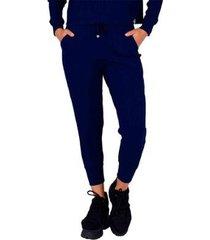 calça miss misses ondule com detalhe de ilhós feminina - feminino