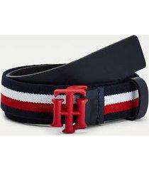 tommy hilfiger girl's kids monogram belt corporate - l-xl
