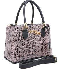 bolsa transversal gouveia costa luxo croco rosê