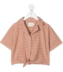 the new society arlette organic-cotton shirt - orange