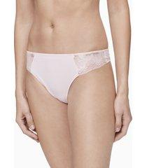 calvin klein women's hibiscus lace thong underwear