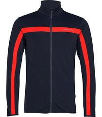 kimball jarvis jacket-brushed sweat-shirt trui blauw j. lindeberg ski