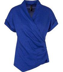 marc cain blouse kobalt blauw
