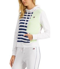 tommy hilfiger sport striped colorblocked hoodie