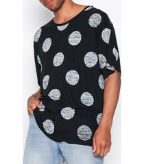 dr denim yvo tee t-shirts & linnen black
