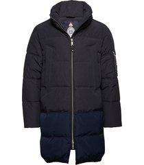 long quilted down jacket fodrad jacka blå scotch & soda