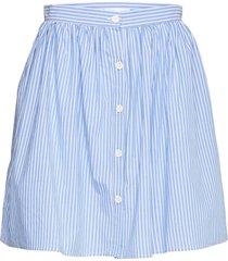 2nd simona stripe knälång kjol blå 2ndday