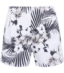 short masculino beach hibisco - off white
