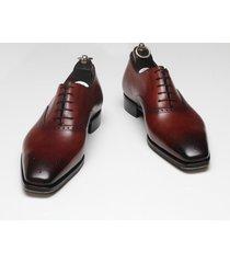 handmade mens formal leather shoes, men maroon dress leather shoes, men shoes
