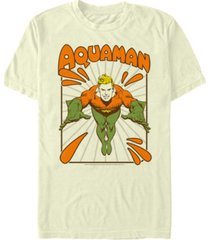 fifth sun dc men's retro aquaman portrait short sleeve t-shirt
