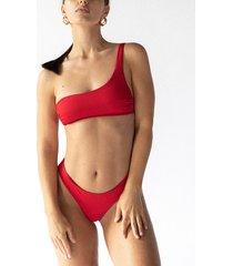 tropiko swimwear - riviera bikini top czerwony