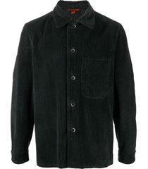 barena corduroy shirt - black