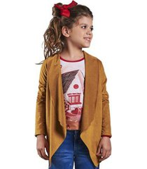 casaco infantil bugbee suede feminina