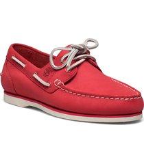 classic boat amherst 2 eye boat shoe loafers låga skor röd timberland