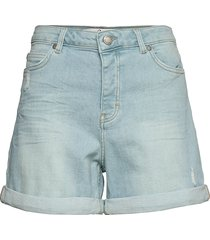 abby 241 destruct sky blue auto shorts denim shorts blå fiveunits
