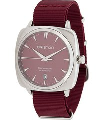 briston watches clubmaster iconic 40mm watch - red