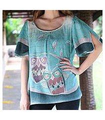 cotton tunic, 'owl adventures' (thailand)