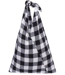 bolsa feminina lenço vichy - preto