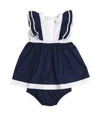 vestido doce marinha c/ calcinha